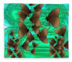 Butterfly Patterns 3 Fleece Blanket