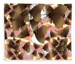 Butterfly Patterns 8 Fleece Blanket