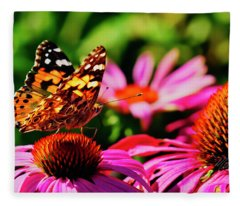 Butterfly Side Fleece Blanket