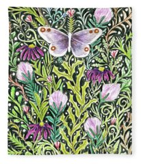 Butterfly Tapestry Design Fleece Blanket