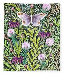 Butterfly Tapestry Design Fleece Blanket