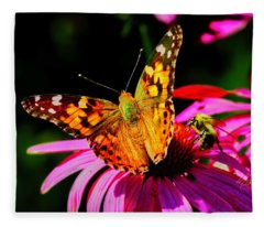 Butterfly Wings Open Fleece Blanket