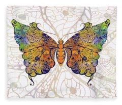 Butterfly Zen Meditation Abstract Digital Mixed Media Artwork By Omaste Witkowski Fleece Blanket