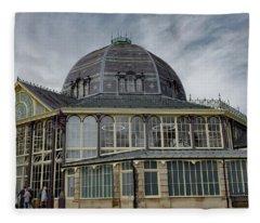Buxton Octagon Hall At The Pavilion Gardens Fleece Blanket