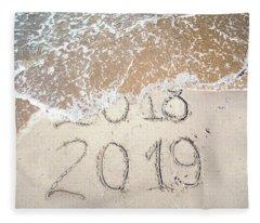 Bye Bye 2018 Welcome2019 Fleece Blanket