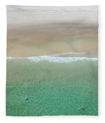 Fleece Blanket featuring the photograph Byron Bay Swimmers by Chris Cousins