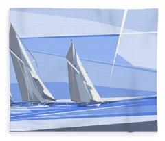 C-class Yachts Fleece Blanket