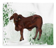 C Is For Cow Fleece Blanket