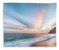 Cabo San Lucas Beach Sunset Mexico Fleece Blanket