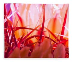 Fleece Blanket featuring the photograph Cactus Cathedral by Judy Kennedy