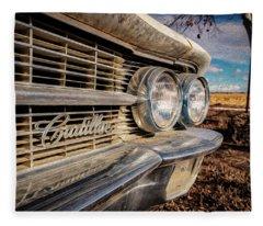 Classic Car Renderings Fleece Blankets