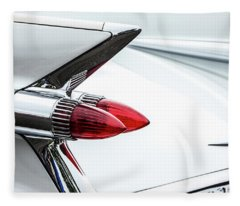 Cadillac Tail Fins Fleece Blanket