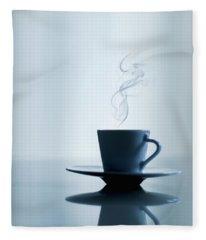 Caffeine Blues Fleece Blanket