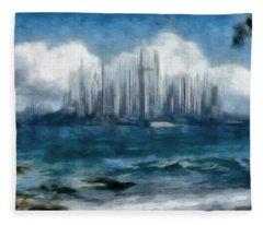 Caladan Across The Sea Fleece Blanket