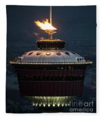 Calgary Tower - 2014 Olympic Torch Fleece Blanket