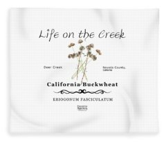 California Buckwheat Fleece Blanket