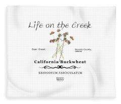California Buckwheat Fleece Blanket