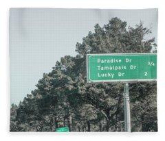 California Traveling Fleece Blanket