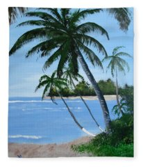 Calm In The Palms Fleece Blanket
