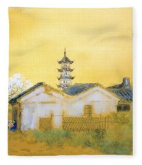 Calm Spring In Jiangnan - Digital Remastered Edition Fleece Blanket