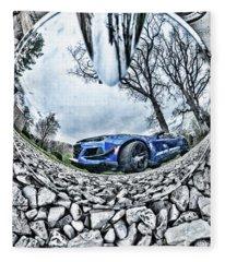 Camaro Reflection Fleece Blanket