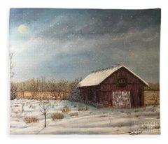 Cambridge Christmas Fleece Blanket
