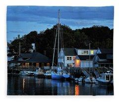 Camden Maine Twightlight Fleece Blanket