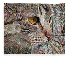 Camo Cat Fleece Blanket