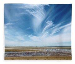 Campground Beach  Fleece Blanket