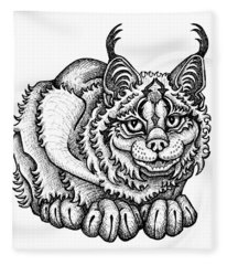 Canada Lynx Fleece Blanket
