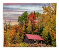 Canadian Autumn Fleece Blanket