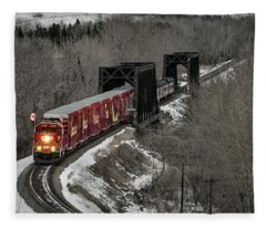 Canadian Pacific Holiday Train 2018 I Fleece Blanket