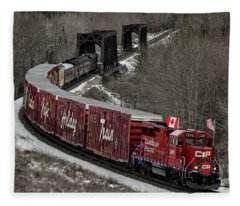 Canadian Pacific Holiday Train 2018 II Fleece Blanket