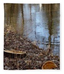 Canal Stumps-003 Fleece Blanket