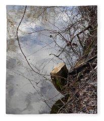 Canal Stumps-005 Fleece Blanket