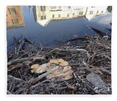 Canal Stumps-033 Clinton St View Fleece Blanket