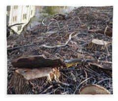 Canal Stumps-037 Fleece Blanket