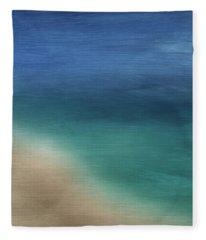 Cancun Coast- Art By Linda Woods Fleece Blanket