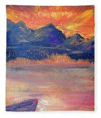 Canoe Trips Fleece Blanket