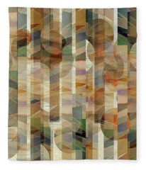 Canyon Circles And Stripes Fleece Blanket