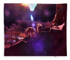 Canyon Pups Meet The Dawn Fleece Blanket