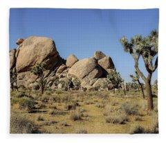 Cap Rock Area, Joshua Tree National Park Fleece Blanket