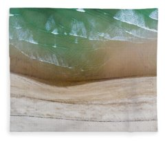 Cape Cod Beach Abstract Fleece Blanket
