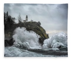 Cape Disappointment Chaos Fleece Blanket