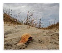 Cape Lookout Lighthouse Fleece Blanket