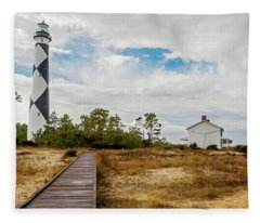 Cape Lookout Lighthouse No. 2 Fleece Blanket