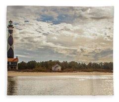 Cape Lookout Lighthouse No. 3 Fleece Blanket