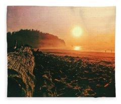 Cape Meares Beach Fleece Blanket