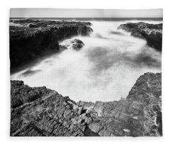 Fleece Blanket featuring the photograph Cape Perpetua by Whitney Goodey