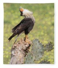 Caracara Head Throw Fleece Blanket